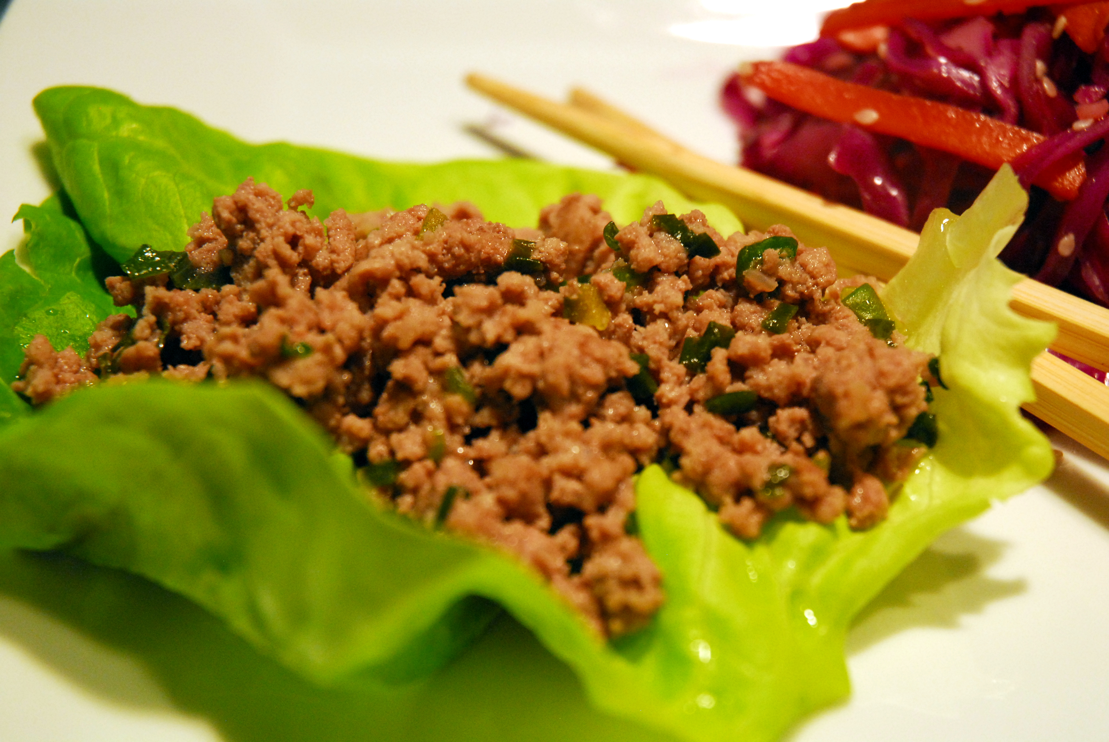 And thought. Asian lettuce wraps something